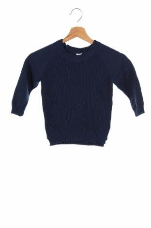 Pulover pentru copii H&M, Mărime 18-24m/ 86-98 cm, Culoare Albastru, 50% bumbac, 45% poliamidă, 5% lână, Preț 59,21 Lei