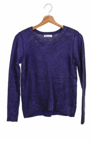Pulover pentru copii H&M, Mărime 12-13y/ 158-164 cm, Culoare Mov, 60% bumbac, 40%acril, Preț 59,68 Lei