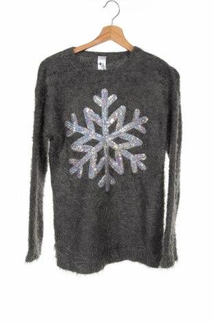Детски пуловер Here+There, Размер 15-18y/ 170-176 см, Цвят Сив, 69% полиамид, 31% акрил, Цена 18,90лв.