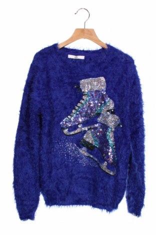 Παιδικό πουλόβερ Marks & Spencer, Μέγεθος 12-13y/ 158-164 εκ., Χρώμα Μπλέ, 81% πολυαμίδη, 19%ακρυλικό, Τιμή 12,34€