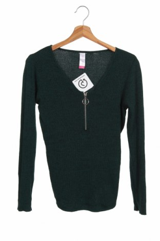 Pulover pentru copii No Boundaries, Mărime 11-12y/ 152-158 cm, Culoare Verde, 76% poliamidă, 24% poliester, Preț 69,63 Lei