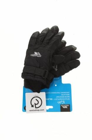 Детски ръкавици за зимни спортове Trespass, Цвят Черен, Полиамид, Цена 27,30лв.