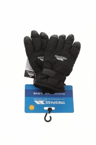 Детски ръкавици за зимни спортове Trespass, Цвят Черен, Полиамид, Цена 31,50лв.