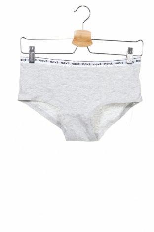 Dětské spodní prádlo Next, Velikost 13-14y/ 164-168 cm, Barva Šedá, 95% bavlna, 5% elastan, Cena  118,00Kč