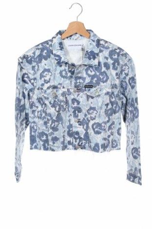 Dětská džínová bunda  Calvin Klein Jeans, Velikost 15-18y/ 170-176 cm, Barva Modrá, 98% bavlna, 2% elastan, Cena  1403,00Kč