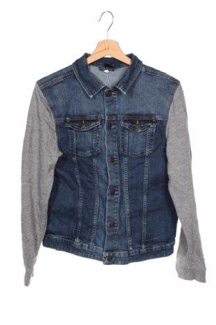 Παιδικό τζίν μπουφάν H&M, Μέγεθος 15-18y/ 170-176 εκ., Χρώμα Μπλέ, 87% βαμβάκι, 11% πολυεστέρας, 2% ελαστάνη, Τιμή 18,19€