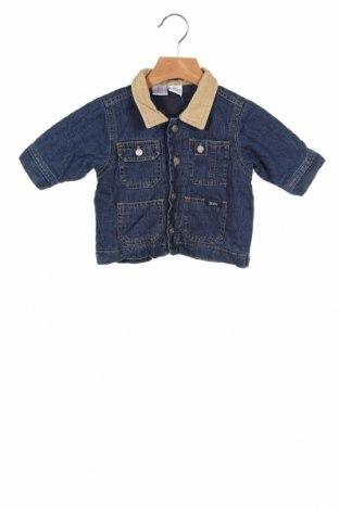 Geacă de blugi, pentru copii H&M, Mărime 2-3m/ 56-62 cm, Culoare Albastru, Bumbac, Preț 83,88 Lei