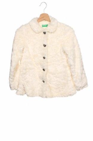Παιδικό παλτό United Colors Of Benetton, Μέγεθος 8-9y/ 134-140 εκ., Χρώμα Εκρού, 80%ακρυλικό, 20% πολυεστέρας, Τιμή 18,84€