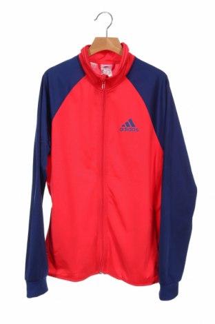 Детско спортно горнище Adidas, Размер 14-15y/ 168-170 см, Цвят Розов, Полиестер, Цена 25,20лв.