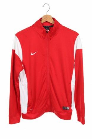 Bluză de trening, pentru copii Nike, Mărime 14-15y/ 168-170 cm, Culoare Roșu, Poliester, Preț 82,89 Lei