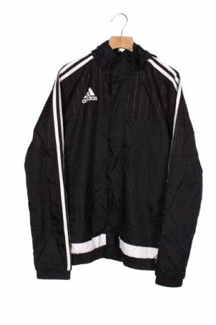 Παιδικό αθλητικό μπουφάν Adidas, Μέγεθος 13-14y/ 164-168 εκ., Χρώμα Μαύρο, Πολυαμίδη, Τιμή 20,78€