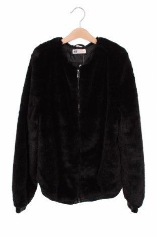 Geacă pentru copii H&M, Mărime 13-14y/ 164-168 cm, Culoare Negru, 100% poliester, Preț 126,00 Lei