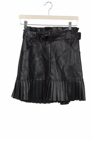 Kožená sukně  Zara, Velikost XS, Barva Černá, Eko kůže, Cena  542,00Kč