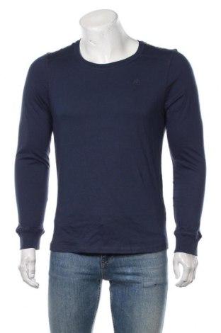 Bluză de bărbați Dreimaster, Mărime S, Culoare Albastru, Bumbac, Preț 210,53 Lei