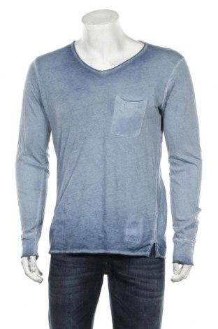 Bluză de bărbați Herrlicher, Mărime M, Culoare Albastru, Bumbac, Preț 103,62 Lei
