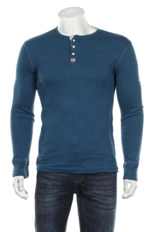 Bluză de bărbați Superdry, Mărime M, Culoare Albastru, Bumbac, Preț 96,22 Lei