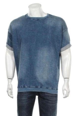 Bluză de bărbați Zara Man, Mărime M, Culoare Albastru, 98% bumbac, 2% elastan, Preț 138,16 Lei