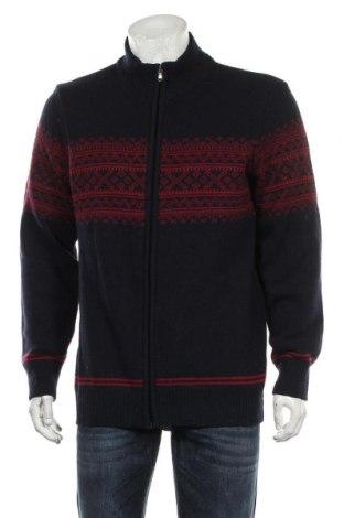 Jachetă tricotată de bărbați, Mărime XL, Culoare Albastru, 80% lână, 20% poliamidă, Preț 89,53 Lei