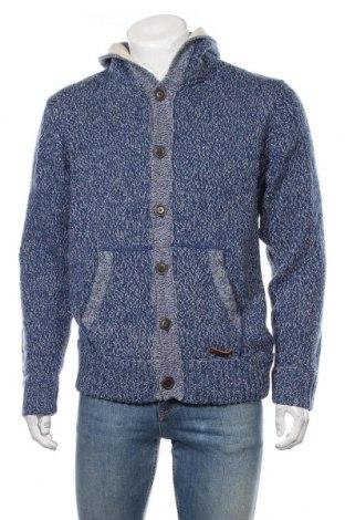 Jachetă tricotată de bărbați Blend, Mărime XL, Culoare Albastru, 70%acril, 30% lână, Preț 79,58 Lei