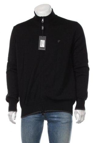 Jachetă tricotată de bărbați Denim Culture, Mărime XL, Culoare Negru, Bumbac, Preț 325,66 Lei