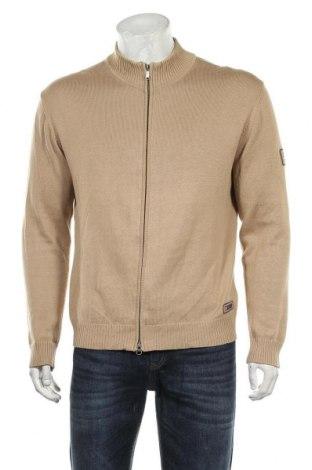 Jachetă tricotată de bărbați Esprit, Mărime L, Culoare Bej, Bumbac, Preț 76,26 Lei