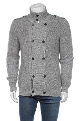 Jachetă tricotată de bărbați H&M, Mărime M, Culoare Gri, Bumbac, Preț 86,21 Lei