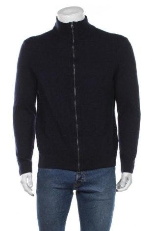 Pánský kardigán Hugo Boss, Velikost XL, Barva Modrá, 66% vlna, 34% bavlna, Cena  3141,00Kč