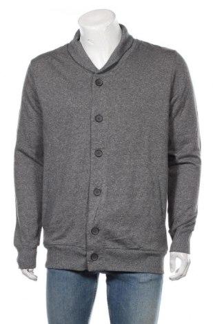 Jachetă tricotată de bărbați Livergy, Mărime L, Culoare Gri, 63% bumbac, 37%, Preț 89,53 Lei