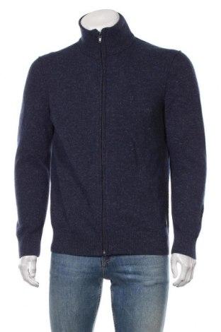 Мъжка жилетка Marc O'Polo, Размер L, Цвят Син, 46% вълна, 23% памук, 16% полиамид, 15% лен, Цена 106,50лв.