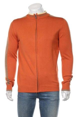 Pánský kardigán Mo, Velikost M, Barva Oranžová, 55%acryl, 45% bavlna, Cena  641,00Kč