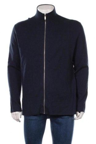 Pánský kardigán S.Oliver, Velikost XL, Barva Modrá, 70% bavlna, 25% viskóza, 5% vlna, Cena  913,00Kč