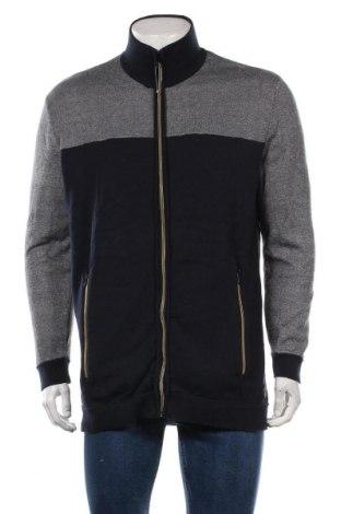 Jachetă tricotată de bărbați Tom Tailor, Mărime 3XL, Culoare Albastru, Bumbac, Preț 170,23 Lei