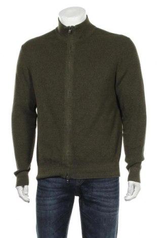 Jachetă tricotată de bărbați Tommy Hilfiger, Mărime L, Culoare Verde, Bumbac, Preț 194,08 Lei