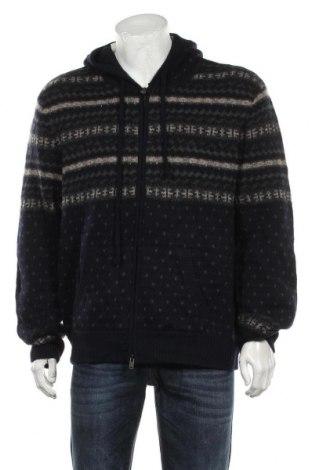 Jachetă tricotată de bărbați Vince, Mărime XXL, Culoare Albastru, 100% lână, Preț 1.047,79 Lei