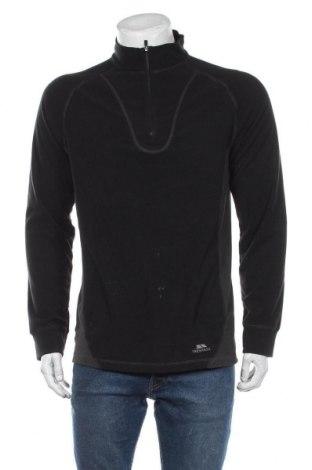 Męska bluzka z polaru Trespass, Rozmiar L, Kolor Czarny, Poliester, Cena 112,00zł