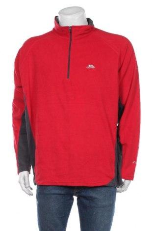 Męska bluzka z polaru Trespass, Rozmiar XL, Kolor Czerwony, Poliester, Cena 132,00zł