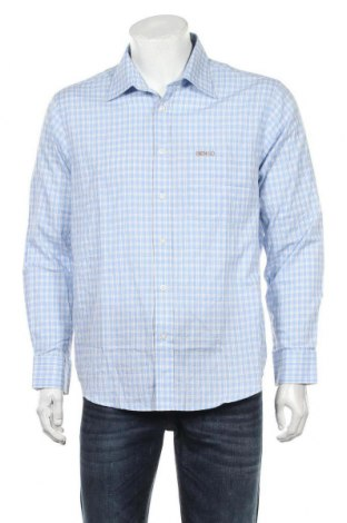 Ανδρικό πουκάμισο, Μέγεθος L, Χρώμα Μπλέ, Βαμβάκι, Τιμή 13,64€