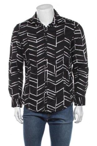 Мъжка риза Alfani, Размер M, Цвят Черен, Памук, Цена 18,90лв.