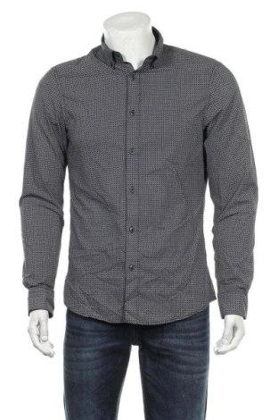 Ανδρικό πουκάμισο Angelo Litrico, Μέγεθος M, Χρώμα Μπλέ, 65% πολυεστέρας, 35% βαμβάκι, Τιμή 9,74€
