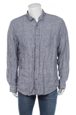 Ανδρικό πουκάμισο Banana Republic, Μέγεθος XL, Χρώμα Μπλέ, Λινό, Τιμή 16,89€