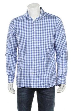 Мъжка риза Boggi, Размер L, Цвят Син, Памук, Цена 36,00лв.