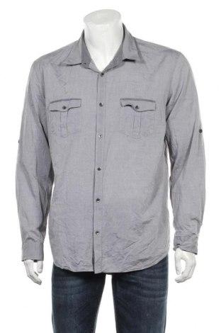 Ανδρικό πουκάμισο Calvin Klein, Μέγεθος XL, Χρώμα Γκρί, Βαμβάκι, Τιμή 18,19€