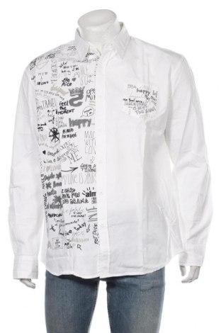 Męska koszula Desigual, Rozmiar XXL, Kolor Biały, Bawełna, Cena 238,00zł