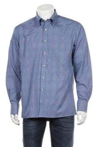 Ανδρικό πουκάμισο Eterna, Μέγεθος L, Χρώμα Μπλέ, Βαμβάκι, Τιμή 11,69€