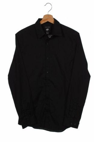 Męska koszula H&M, Rozmiar S, Kolor Czarny, 65% poliester, 35% bawełna, Cena 67,20zł
