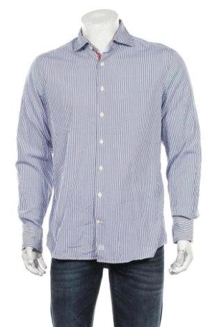 Мъжка риза Hackett, Размер L, Цвят Син, Памук, Цена 39,00лв.