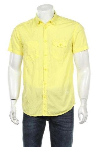 Мъжка риза Jack & Jones, Размер M, Цвят Жълт, Памук, Цена 26,25лв.