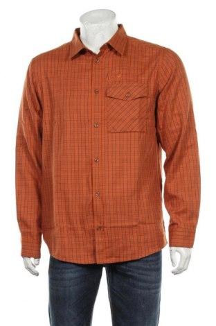 Мъжка риза Jack Wolfskin, Размер M, Цвят Оранжев, 53% памук, 47% полиестер, Цена 69,30лв.