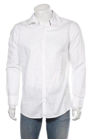 Мъжка риза Montego, Размер L, Цвят Бял, 60% памук, 40% полиестер, Цена 37,80лв.