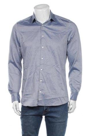Мъжка риза Olymp, Размер M, Цвят Син, 97% памук, 3% еластан, Цена 19,95лв.